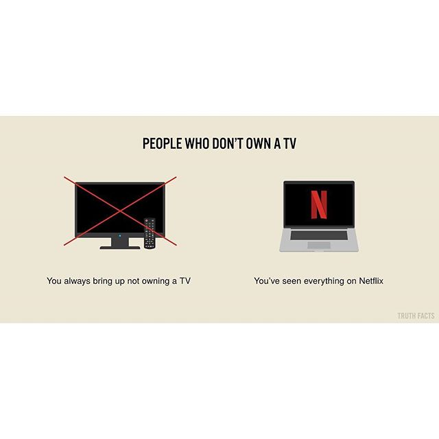 People who don't own a tv