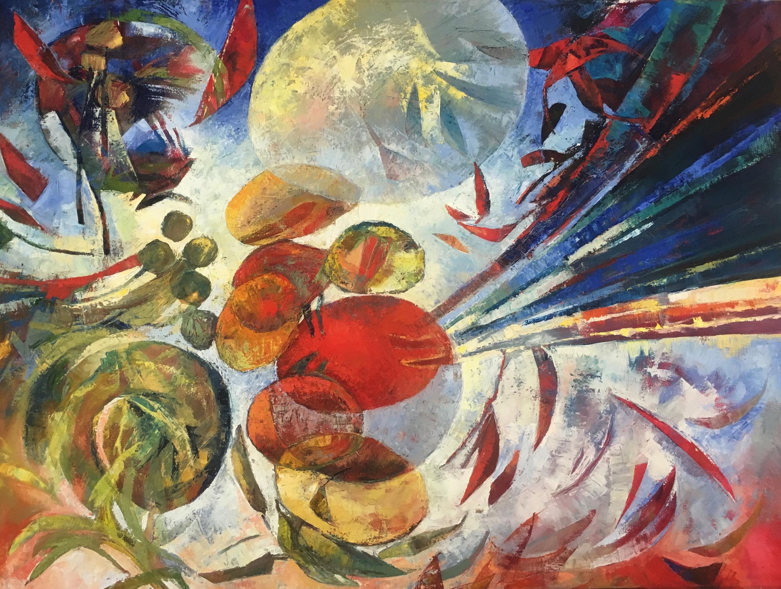 Santa Ana Winds   36 x 48  oil on canvas