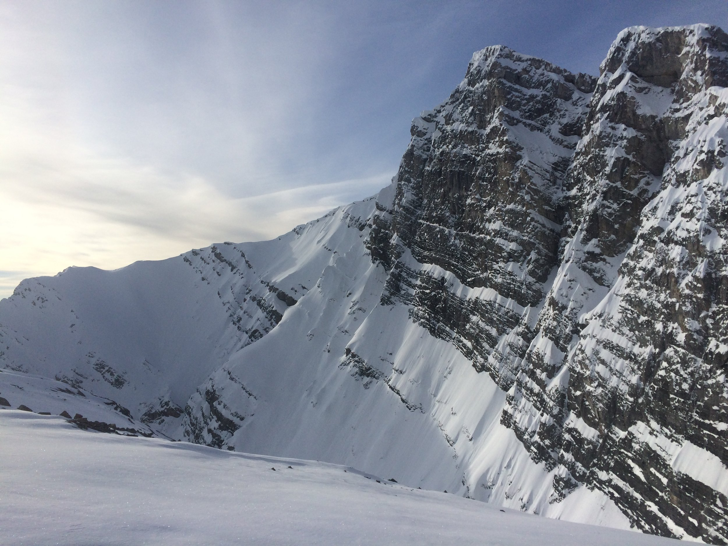 The wall of Mt. Lawrence Grassi