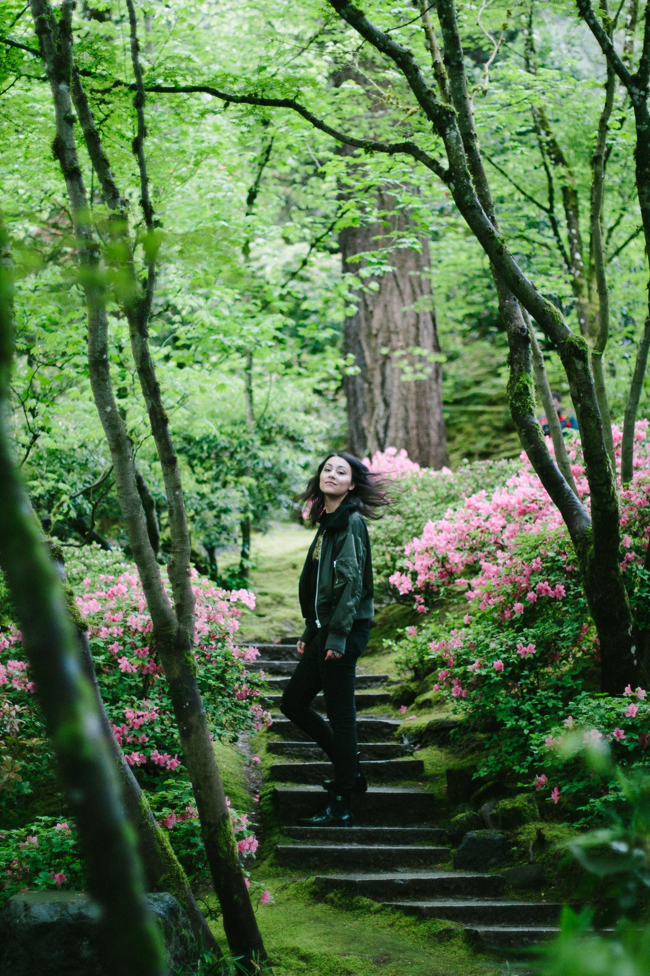 Portland Japanese Garden Black Blooms