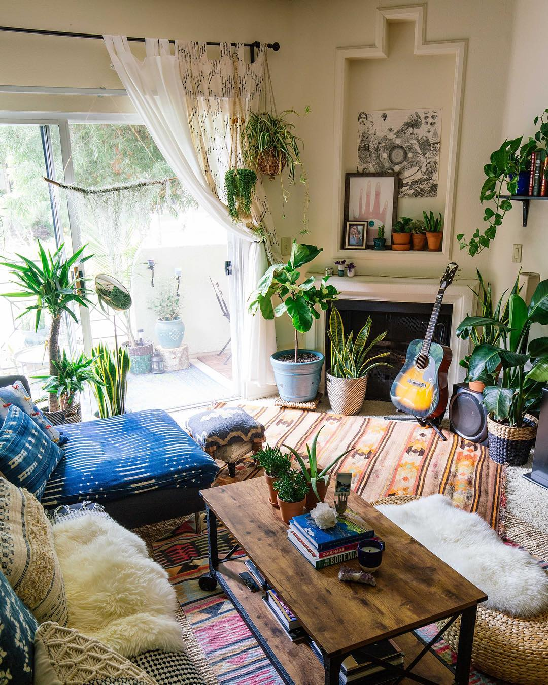 Our living room in September of 2016 - Photographed by Dabito for Justina Blakeney's book  The New Bohemians Handbook