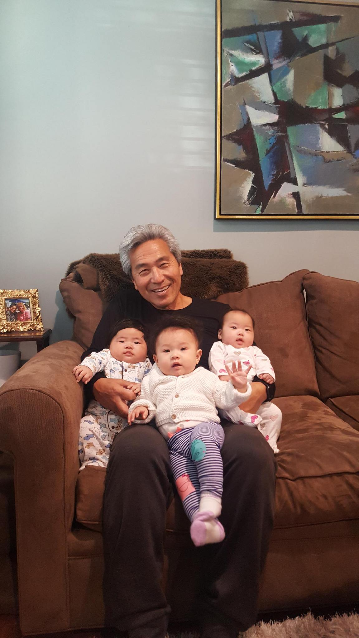 All three new nursery employees with grandpa!!!