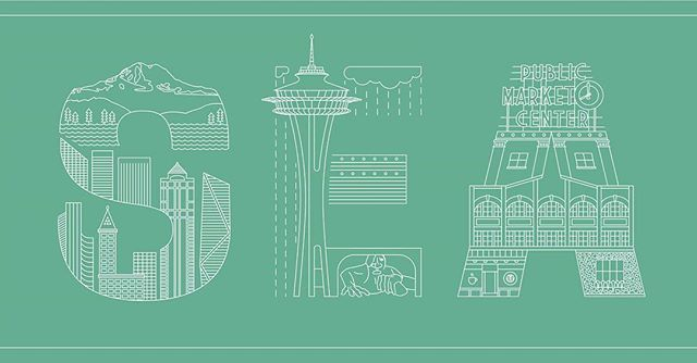 New airport codes  #seattle Link in bio . . . . . #graphicdesign #lineart #illustration#travel #design #illustrator#instadesign #branding #marketing#typegang #typography #lettering#vectorart #typetopia #artoftheday#minimalism #skyline #SEA #washingtonstate #seattledesign