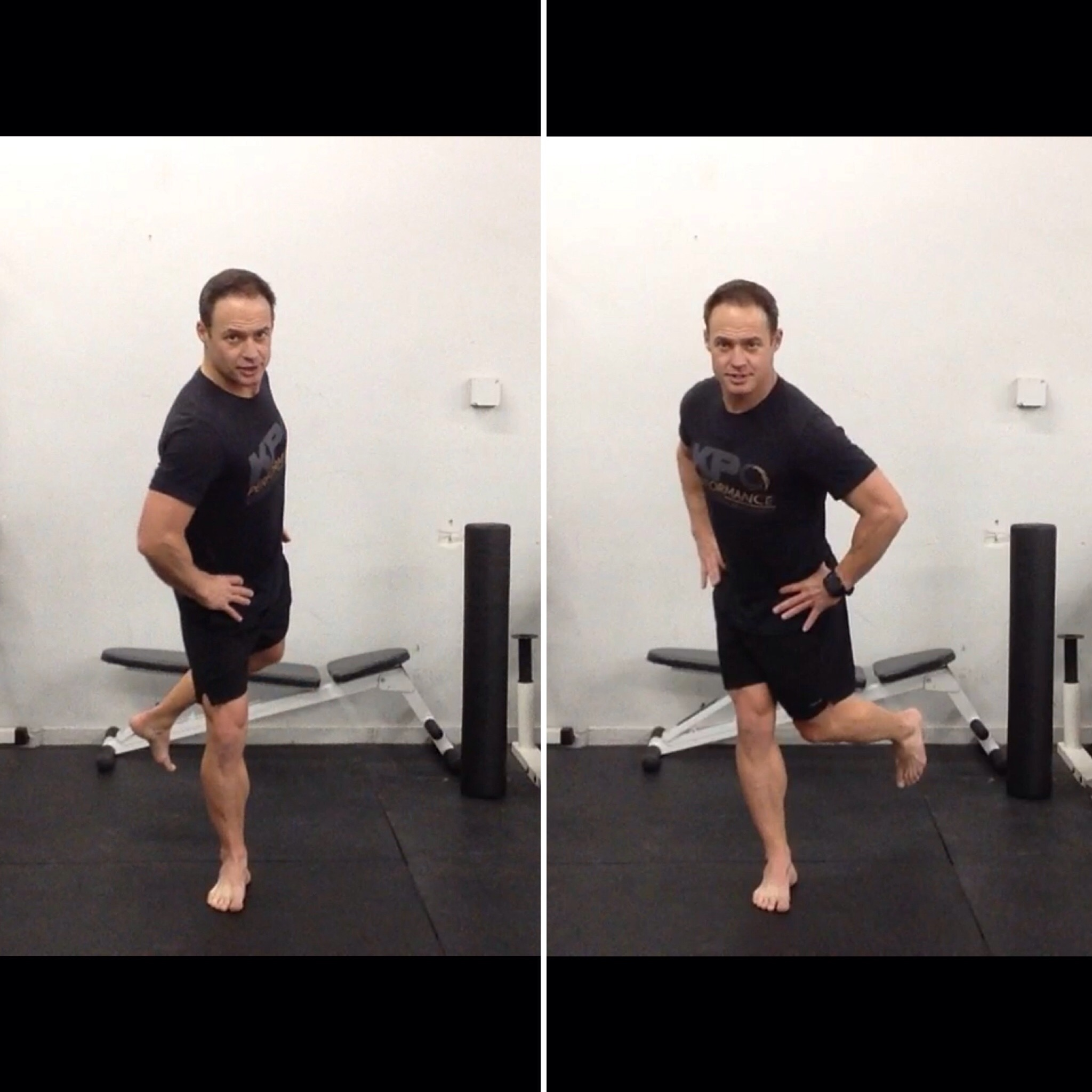 Standing Single Leg Rotation