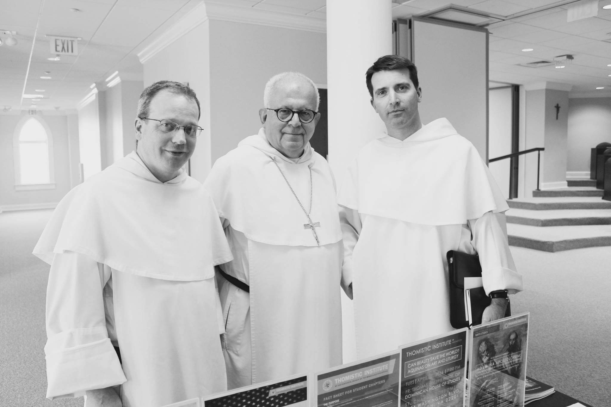 "Fr. Thomas Joseph White, OP, Archbishop Joseph Augustine Di Noia OP, and Fr. Dominic Legge, OP at ""Dominican and the University: 800 Years"" in April 2016."