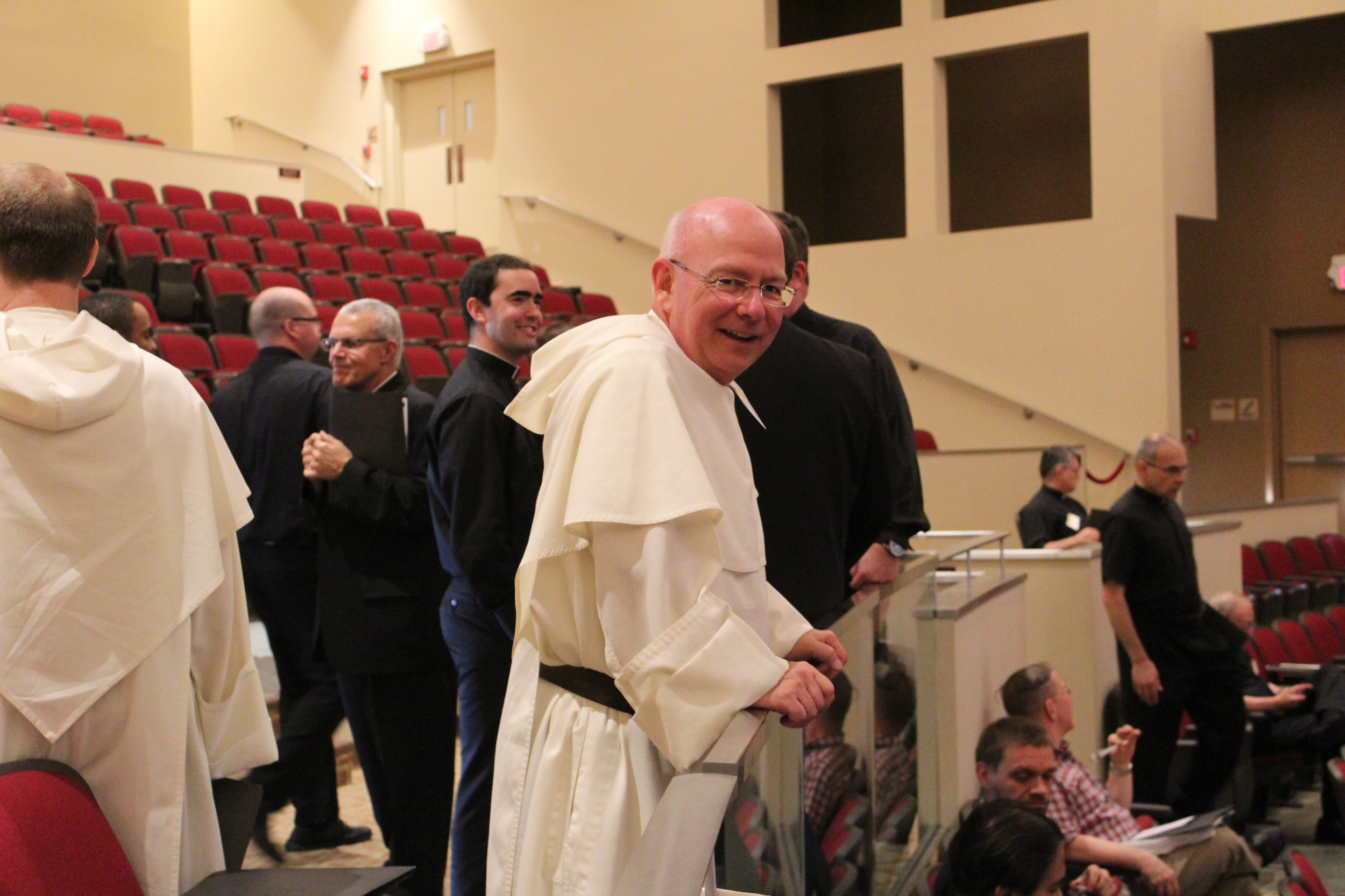 "Fr. Paul Keller, OP before his session on ""Grace & Reality: the Sacrament of Anointing."""