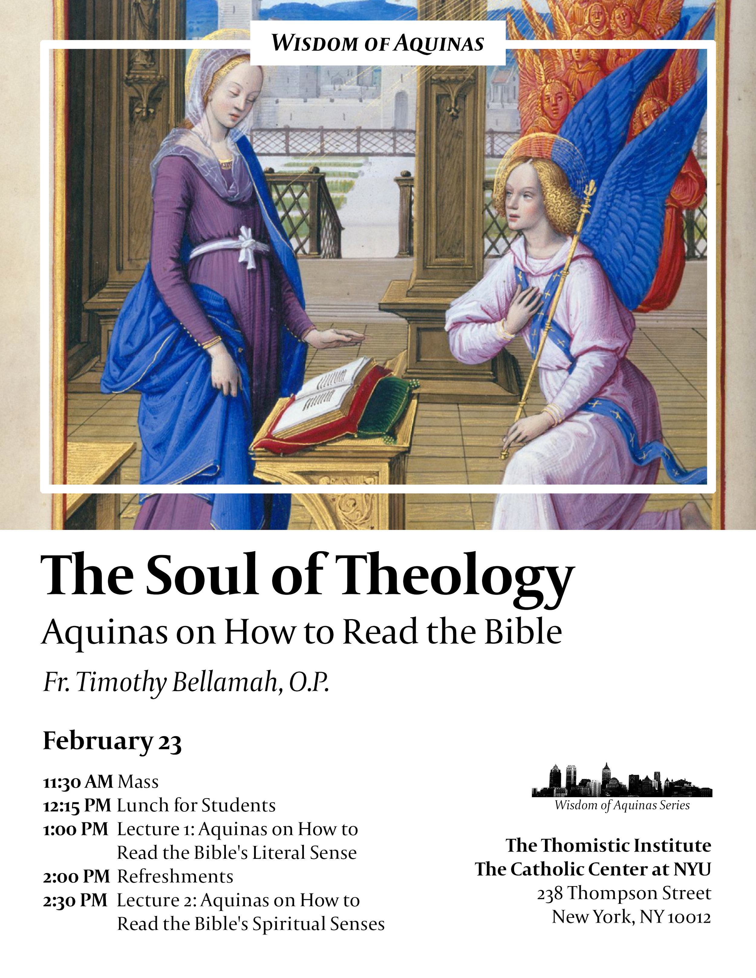 The Soul of Theology: Aquinas on How to Read the Bible — The