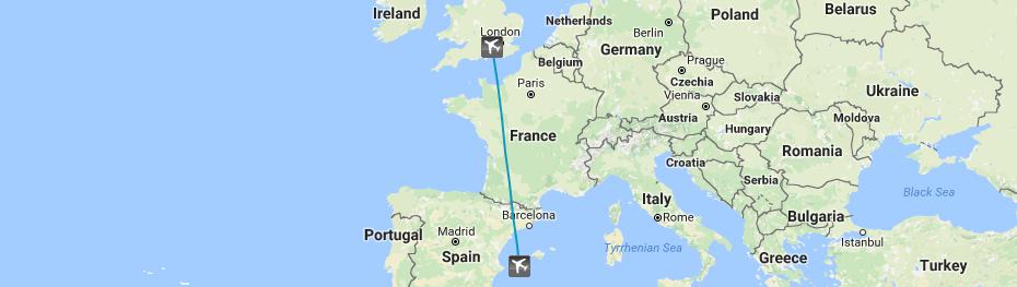 London Farnborough To Ibiza private jet flight