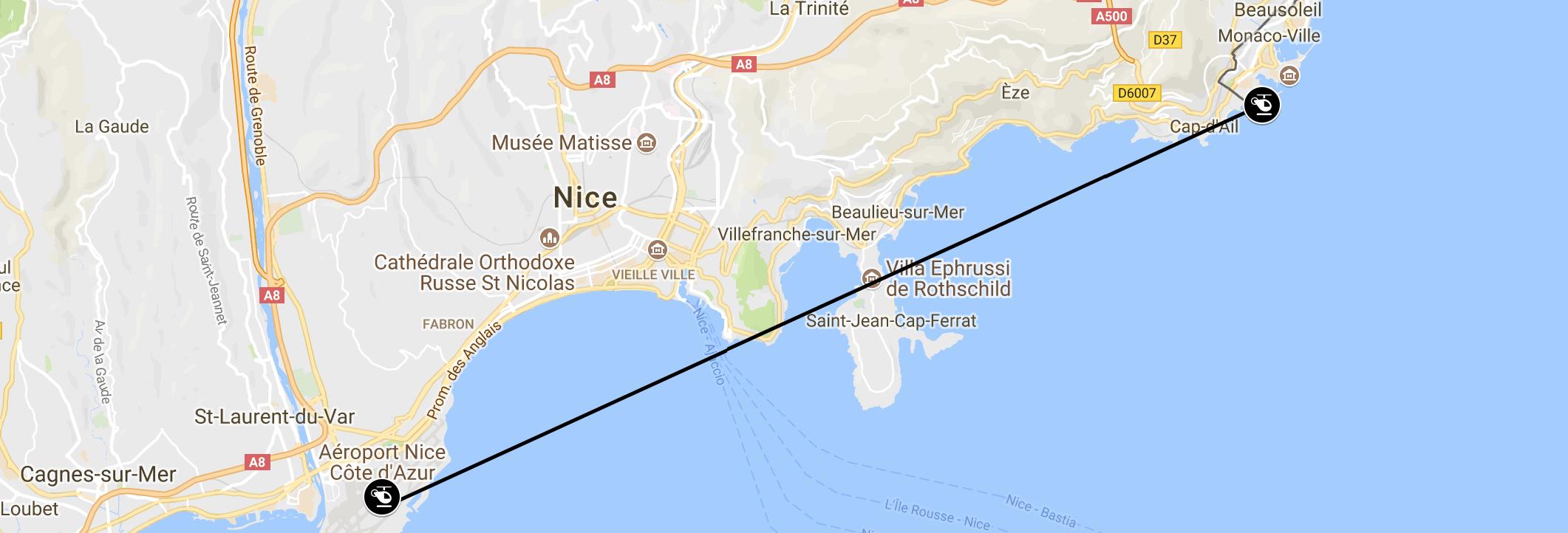 Monaco Grand Prix Helicopter Transfer