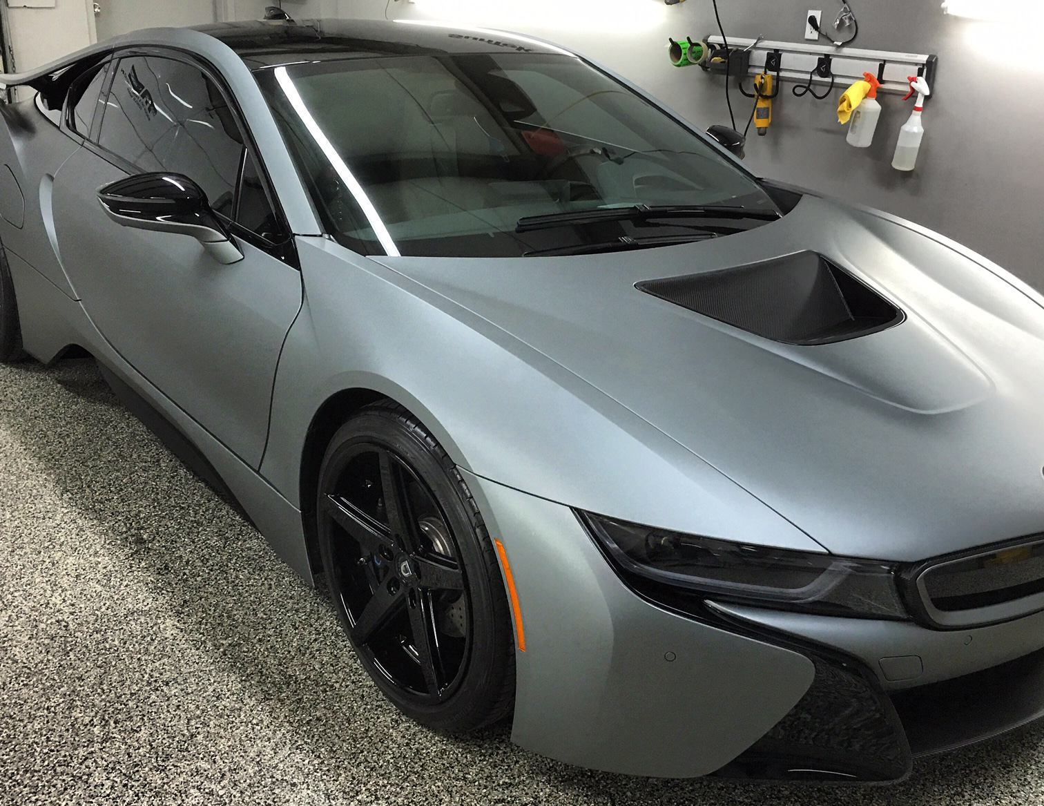 BMW+i8+matte+metallic+grey+wrap+nashville+thewraplab.JPG