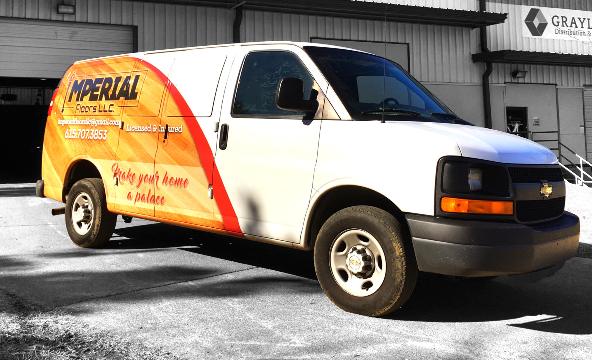 Imperial Flooring Nashville Van Wrap