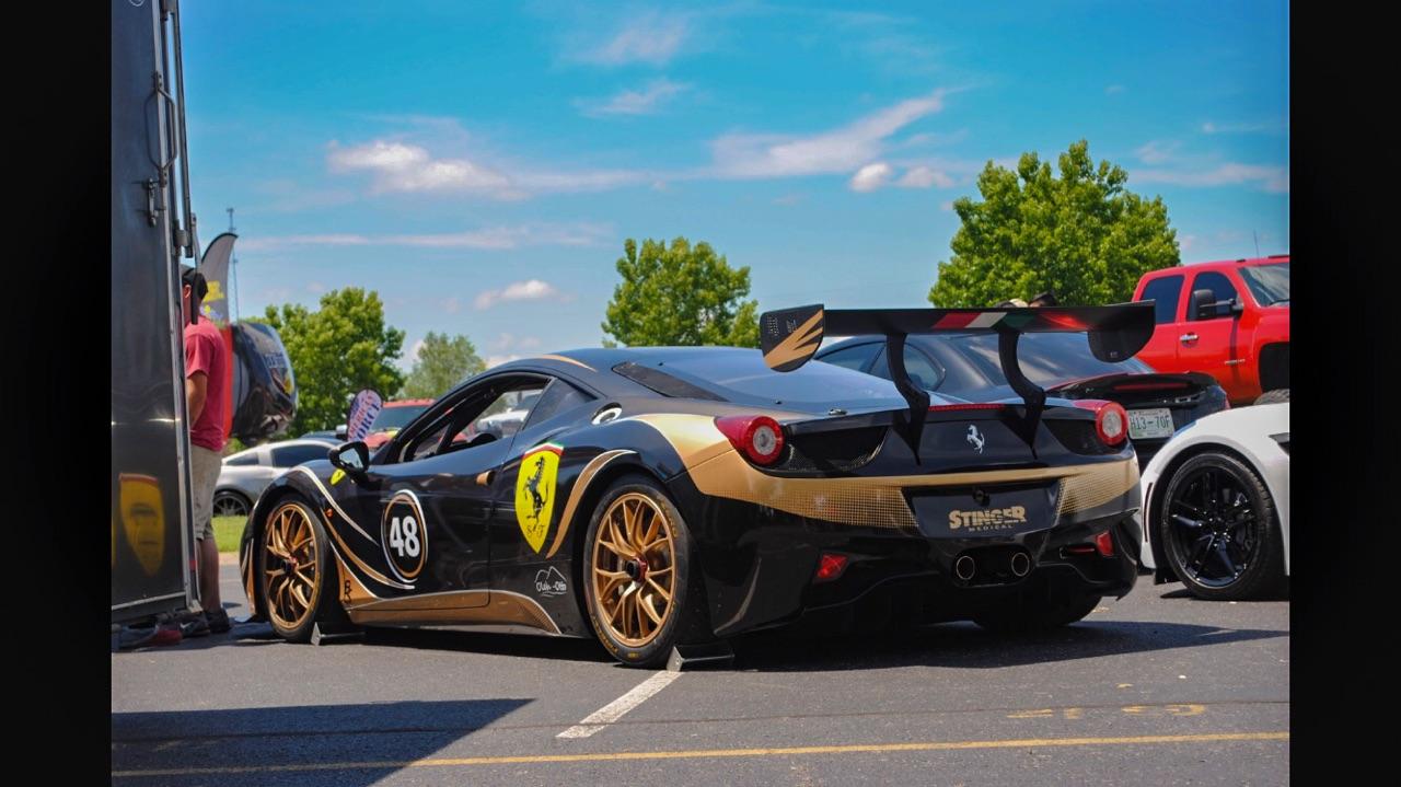Avery metallic black Oracal gold metallic Ferrari 458 Wrap the wrap lab nashville.jpeg