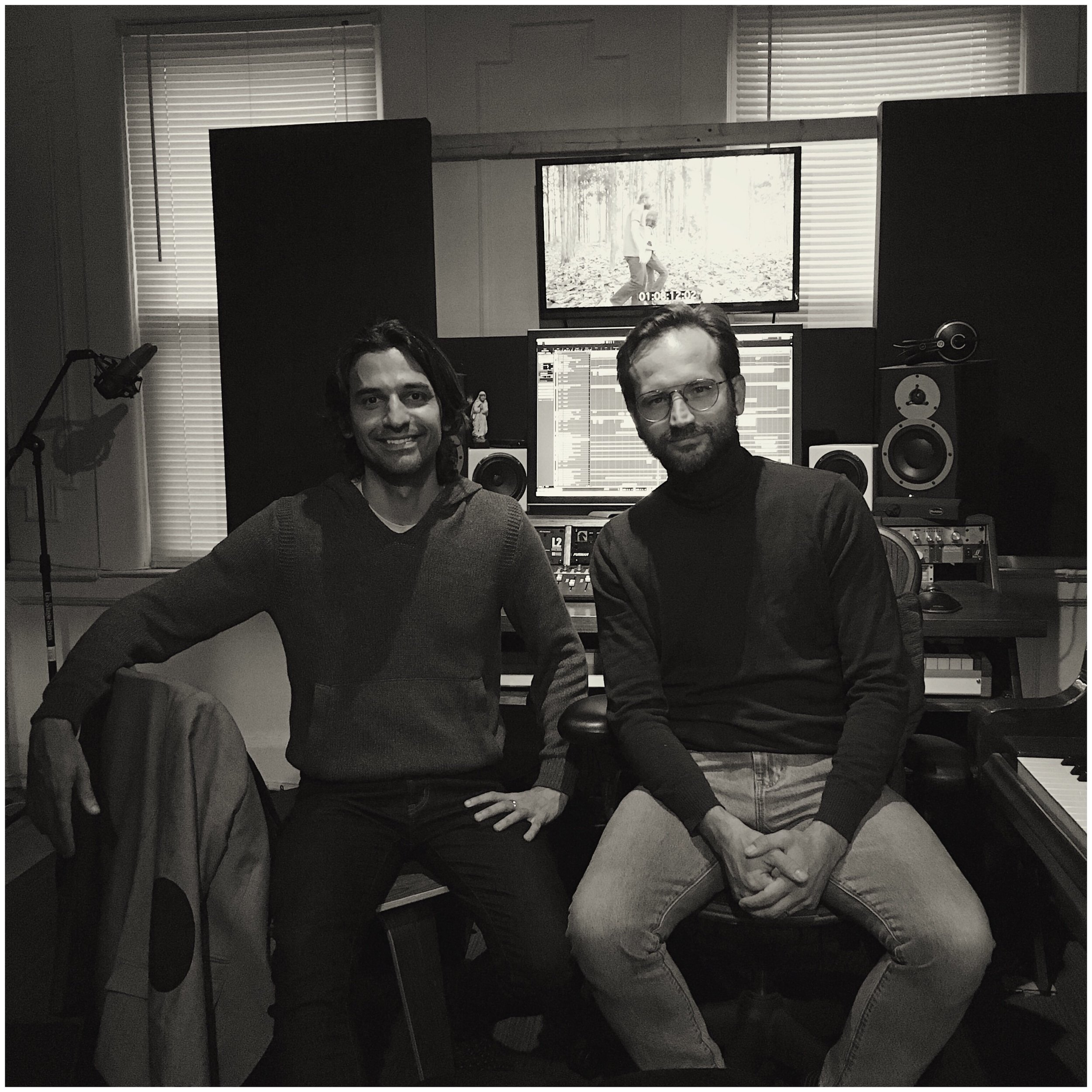 In the studio with director Marcelo Bendotti - Going over final score cues for the upcoming feature film Cova Rasa