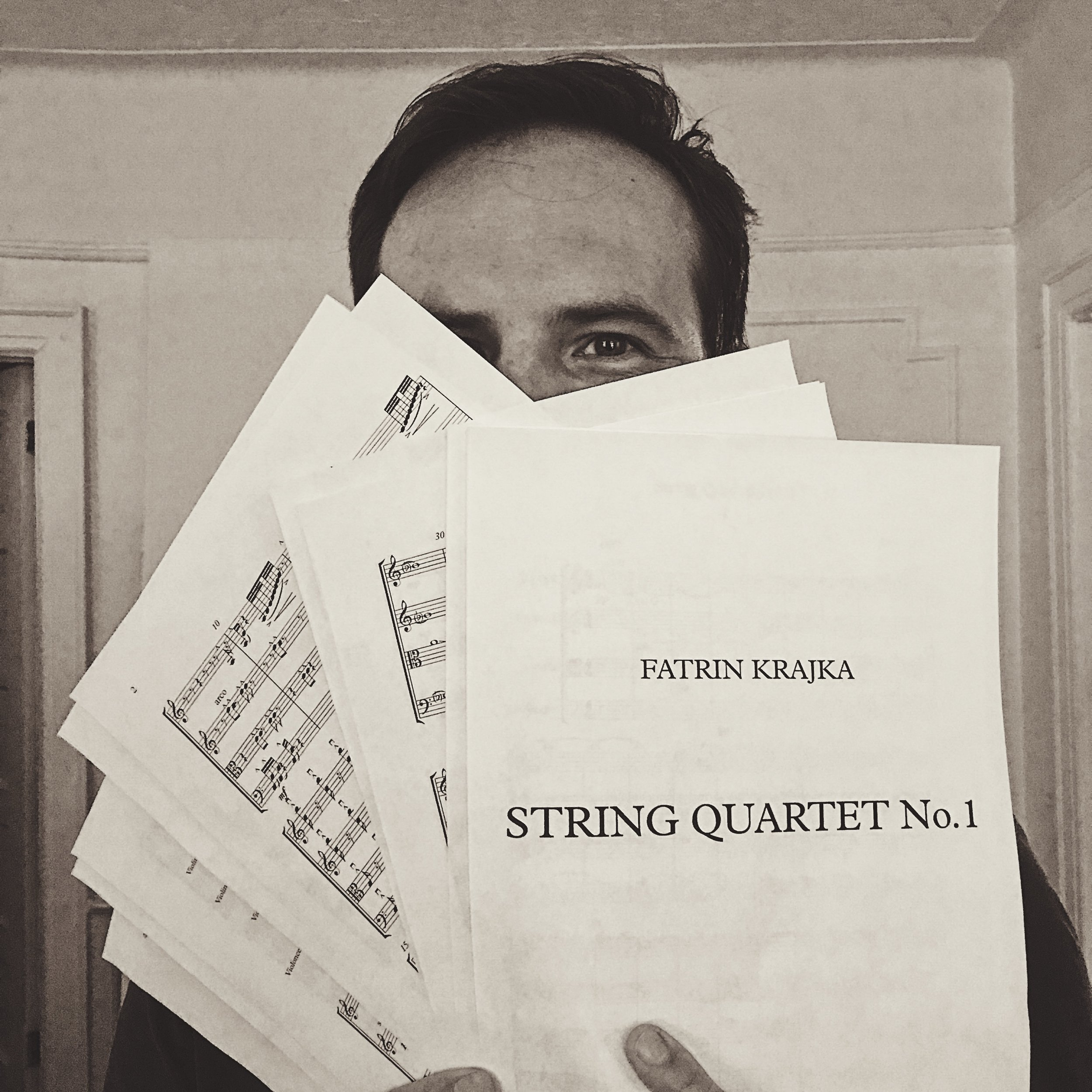 Excited to have finished composing my 1st String Quartet - September 6th 2018