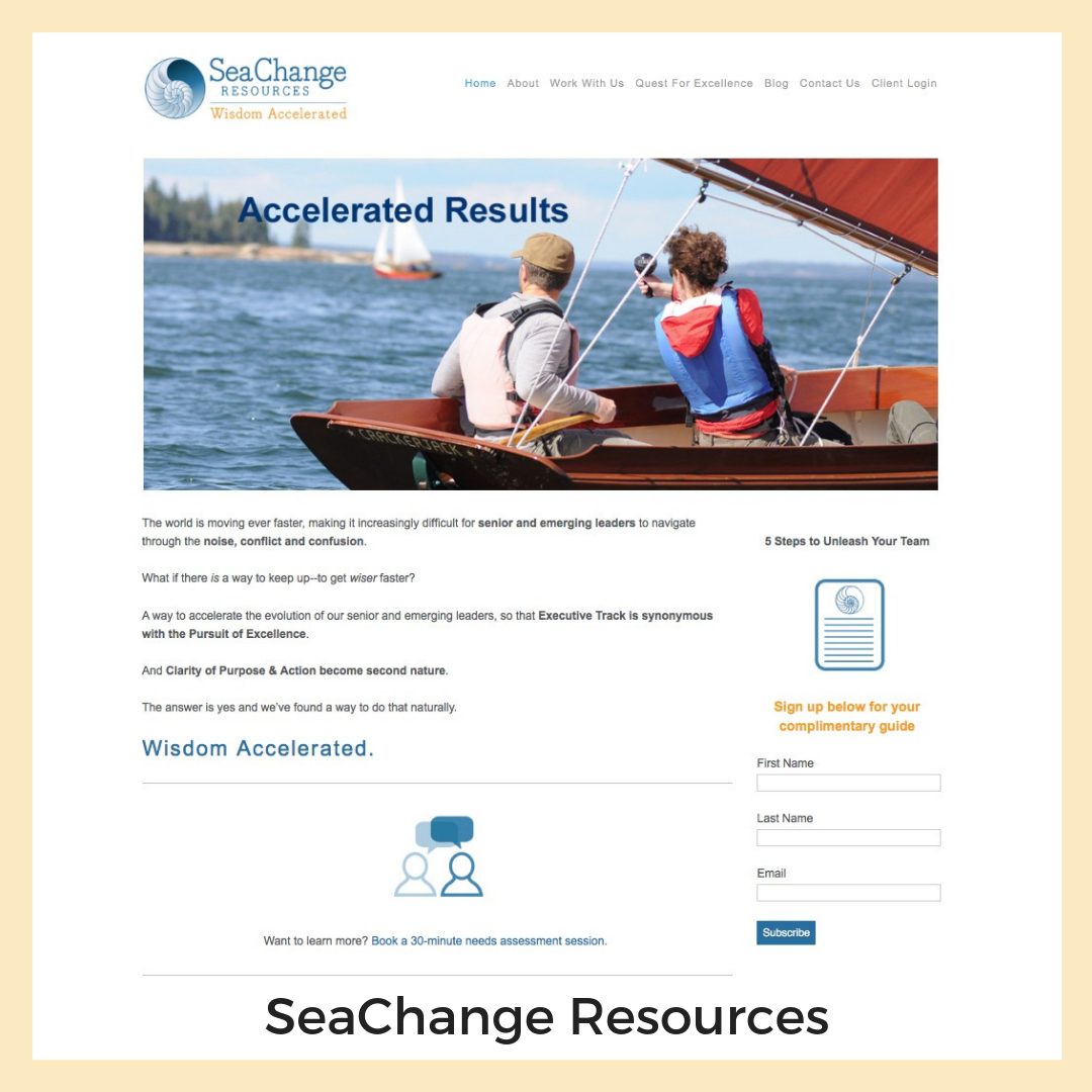 SeaChange Resources. Maine + Montana. Website, Social Media, Email Marketing, Blogging, Graphics, Strategy + Planning.