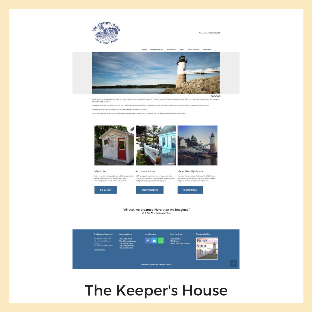 The Keeper's House. Website, Social Media