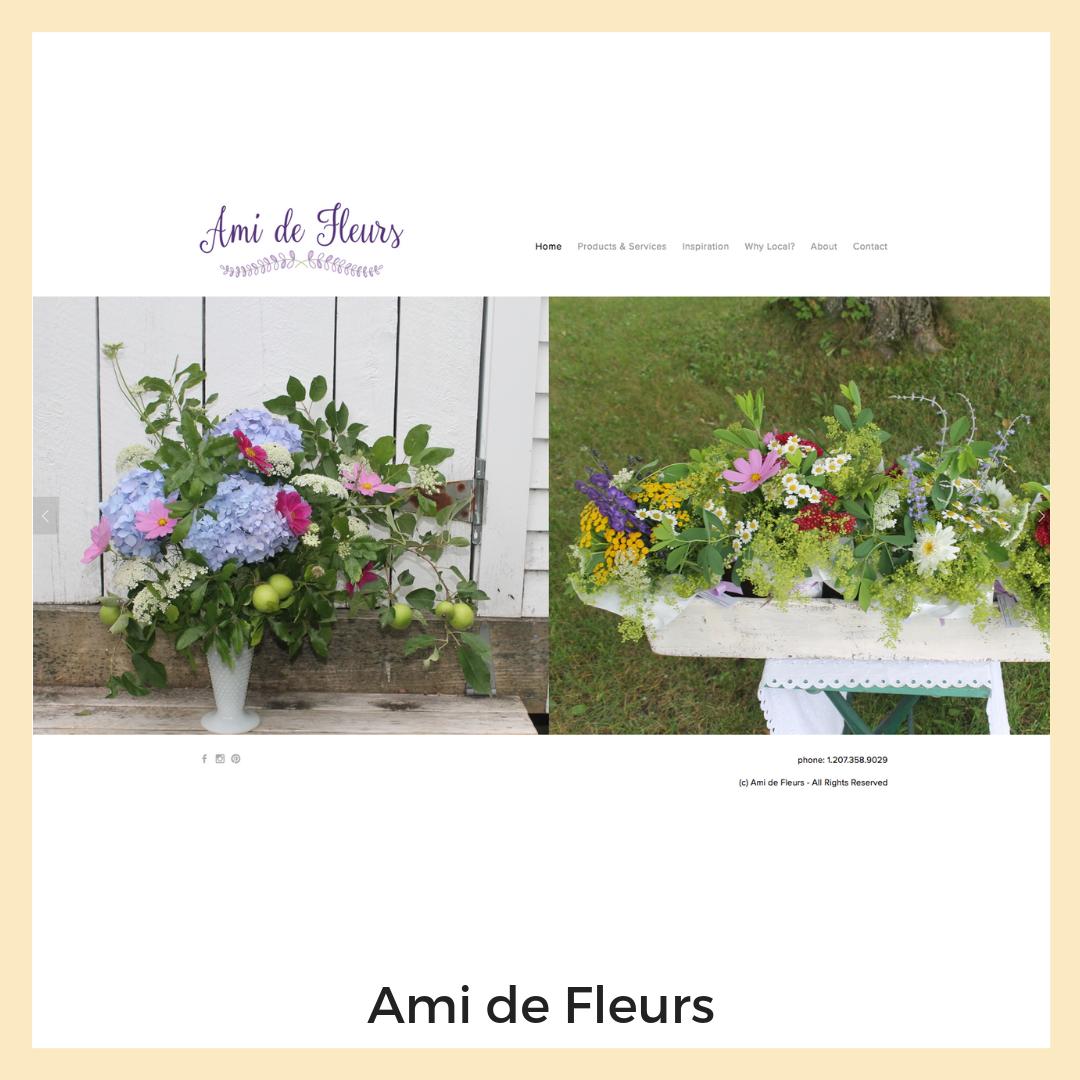 Ami de Fleurs. Website, Content Strategy + Copywriting.