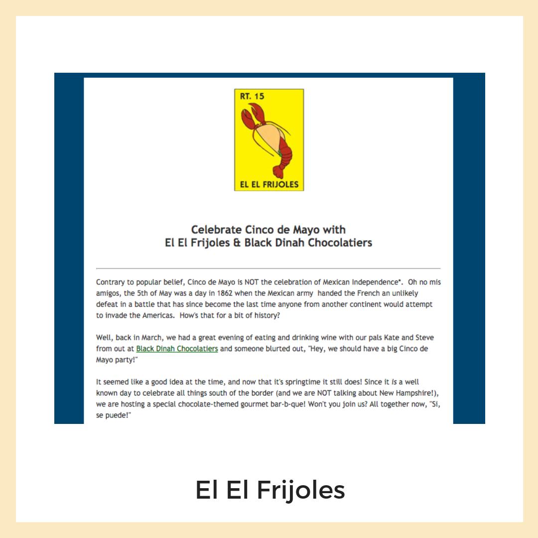 El El Frijoles. Email Marketing + Newsletters
