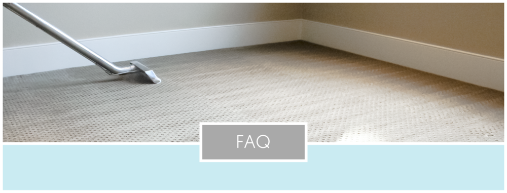 Frequently Asked Questions Curtis E Carpet Cleaning