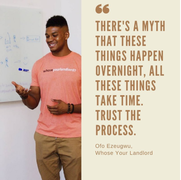 Caption:  A takeaway from last Wednesday's event, we had the pleasuring of welcoming back  @ofoezeugwu to Temple's campus to discuss bootstrapping + venture capital. Temple students + alumni, does your biz need help with venture capital? Book a 1:1 consultation with us!