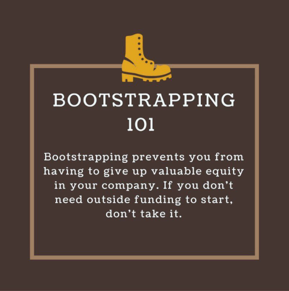 Caption:  Big on 💡 , short on 💰 ? Here's a little  #wednesdaywisdom for you! Temple students/alum: still need a little help with bootstrapping? Book a 1:1 consulting appt with us! Link is in bio!