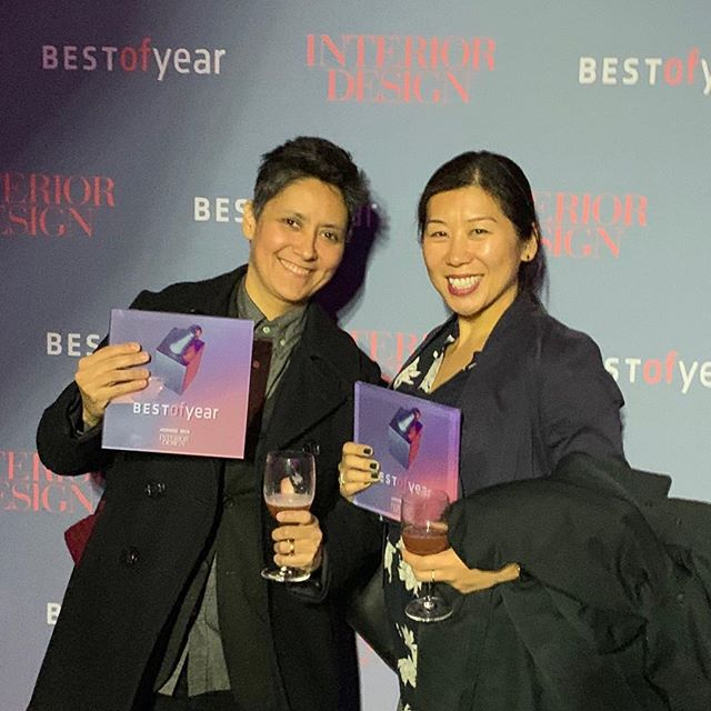 Friday night we celebrated our project, The Wing in Dumbo, being honored at the @interiordesignmag 2018 Best of Year Awards in the Best Coworking Space category! For being a small, two-year old firm, we were humbled and honored to be in the room among so many amazing design giants and talents. Thank you @chiaraderegeinteriors for the fun collaboration and @the.wing for trusting in us. - #idbestofyear #coworking #coworkingdesign #interiordesign #interiorarchitecture