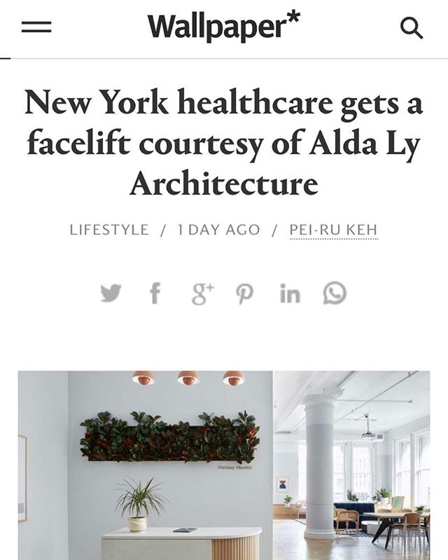 Our newest project for @parsleyhealth is featured in @wallpapermag ! Read about how we approached designing a doctors office where the physical space cares about you too. 🌿👩🏻⚕️🙌 See bio for link. Thank you @pei_ru_keh
