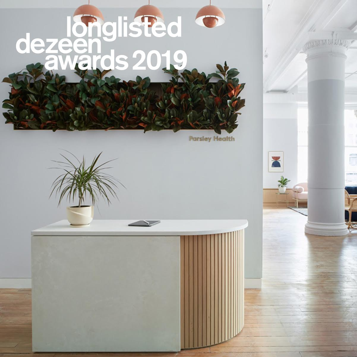 Parsley Health has been longlisted for the Dezeen Awards