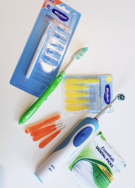 Here are the instruments I use day to day.I also have some gummy stuff that I stick on my braces when they're irritating my gums. I'll try to remember to include that in my next post.