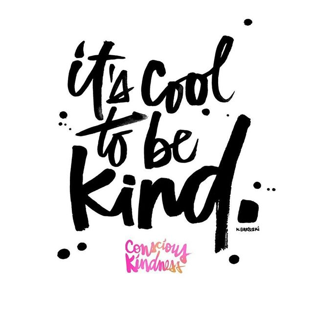 It's cool to be kind ✌️ We 💛 this graphic from @kalbarteski #kindnesskampaign