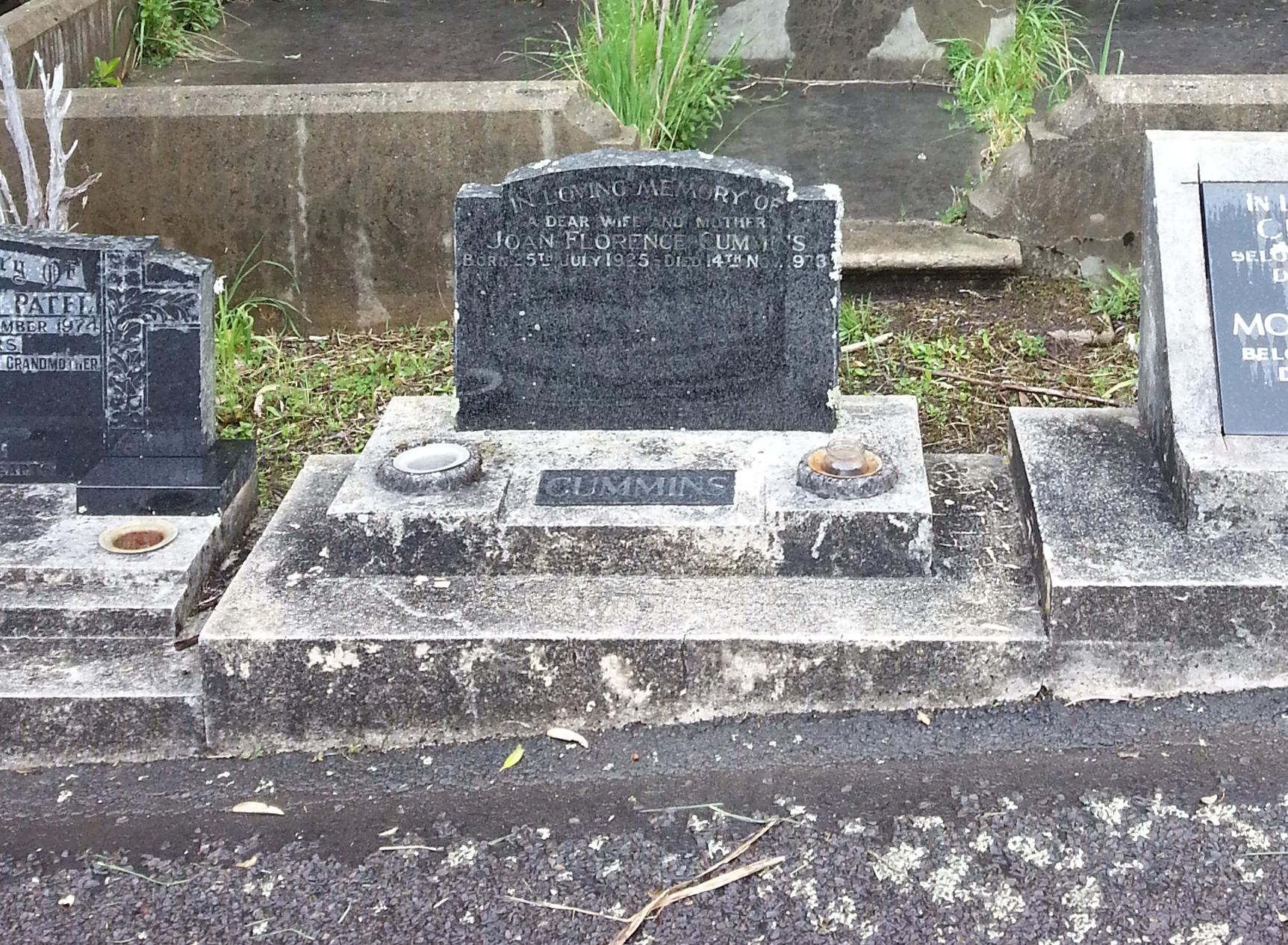 Headstone restoration - before