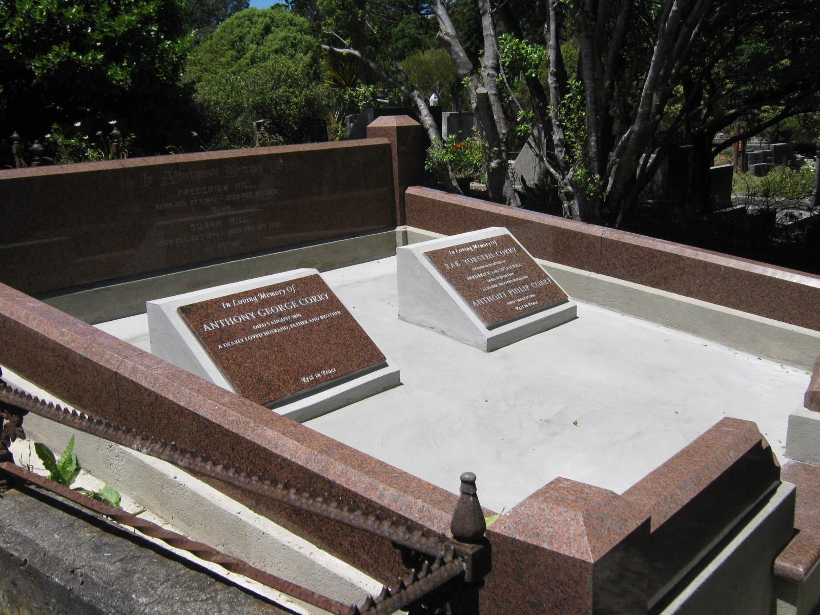 Grave restoration - after
