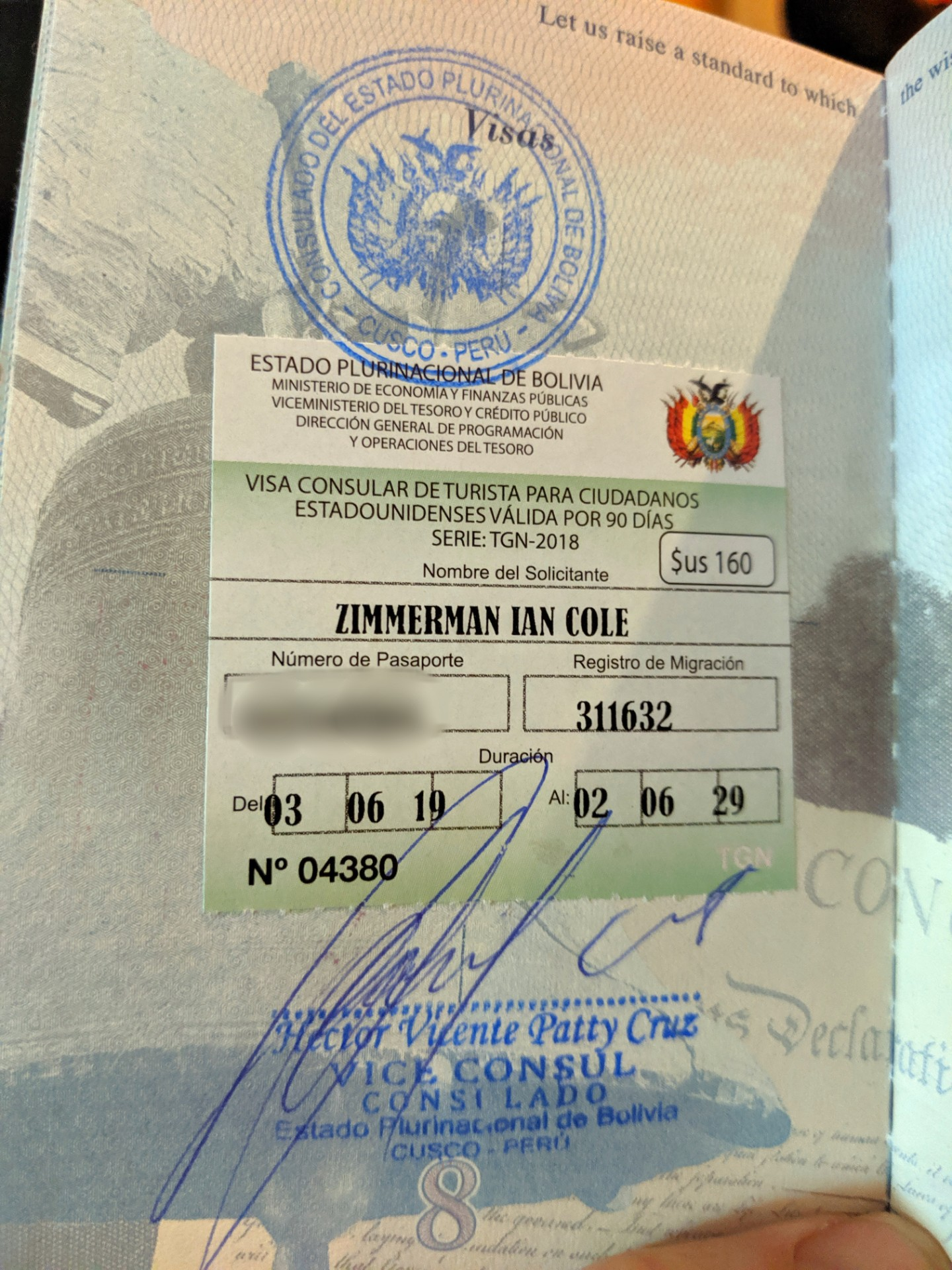 Bolivian Visa For United States Citizens Dos Hobos