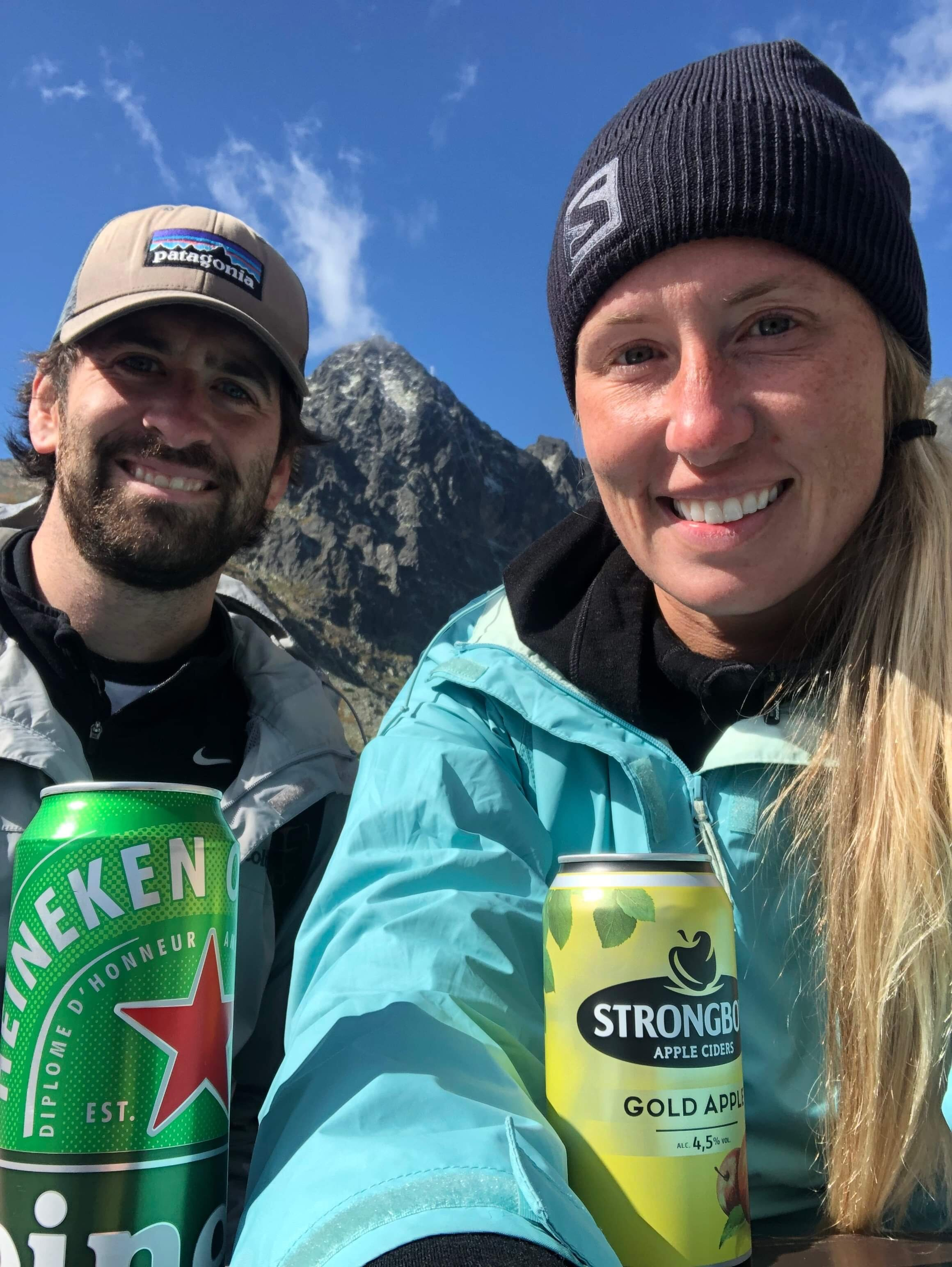 Copy of Thank you Michaela! We enjoyed your beer donation at the top of a peak in Slovakia. A well deserved reward after a long hike.