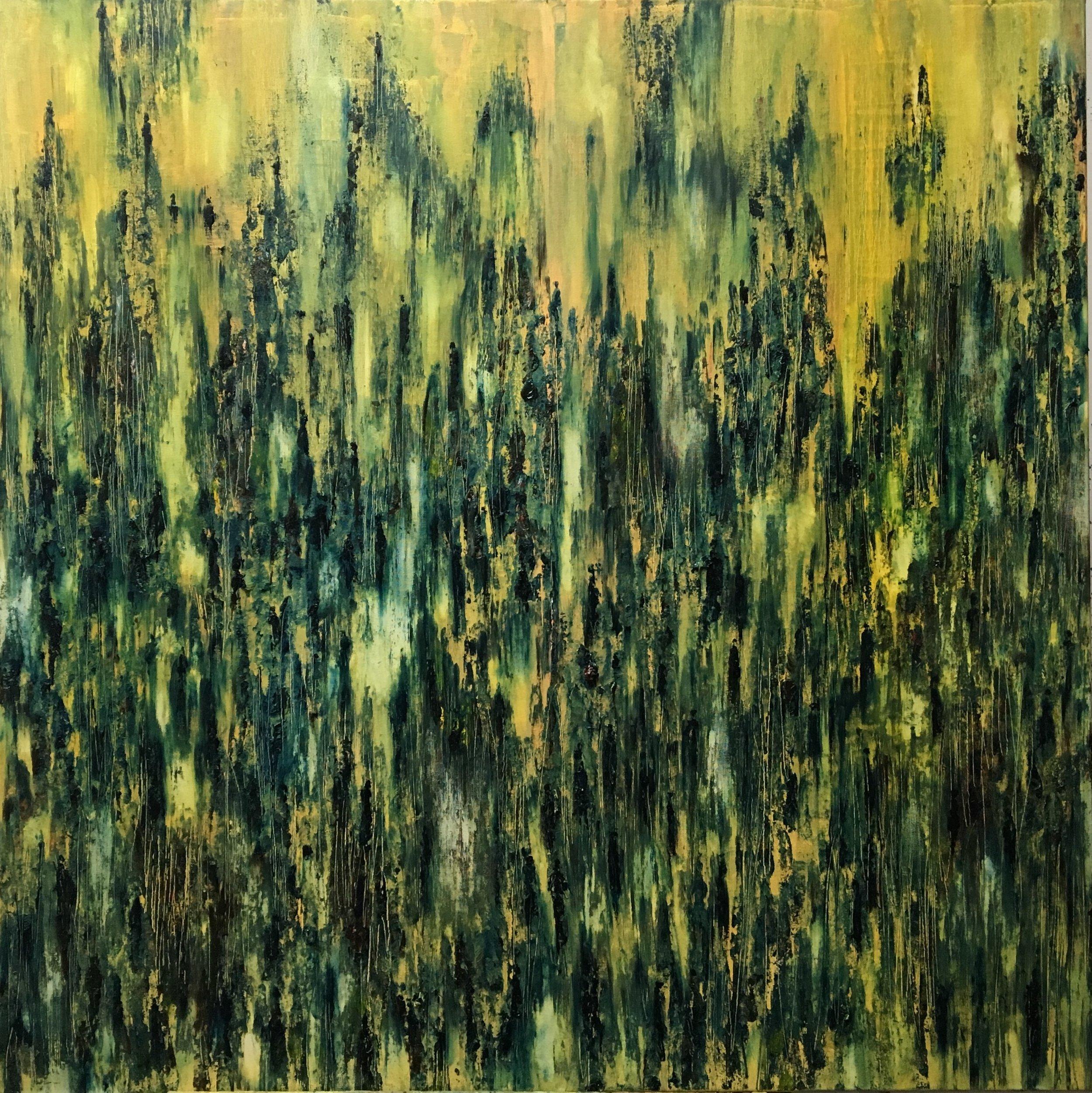 Shadows, Oil, 40 * 40 inches, 2016