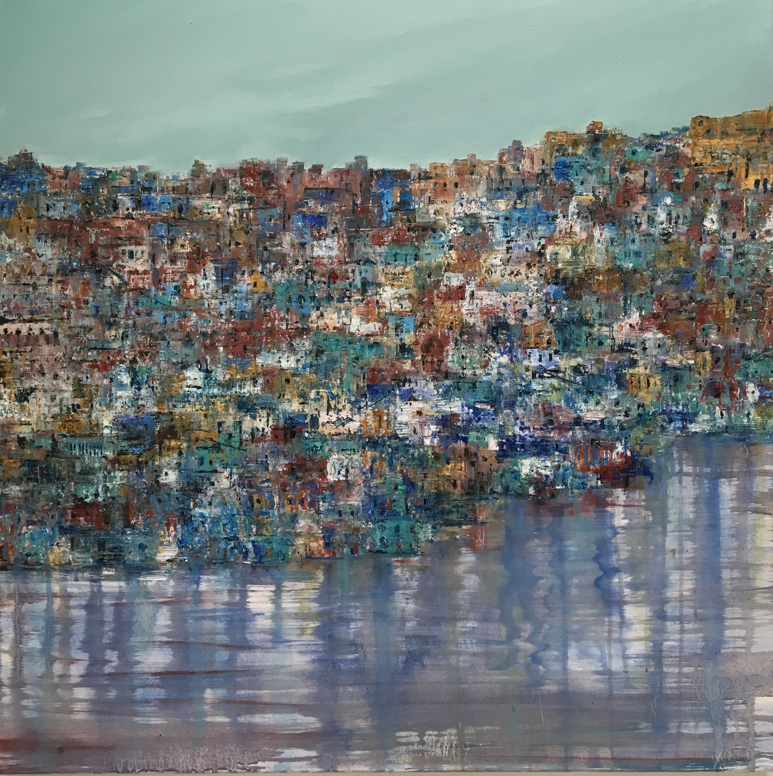Jodhpur Blues, oil, 30 * 30 inches