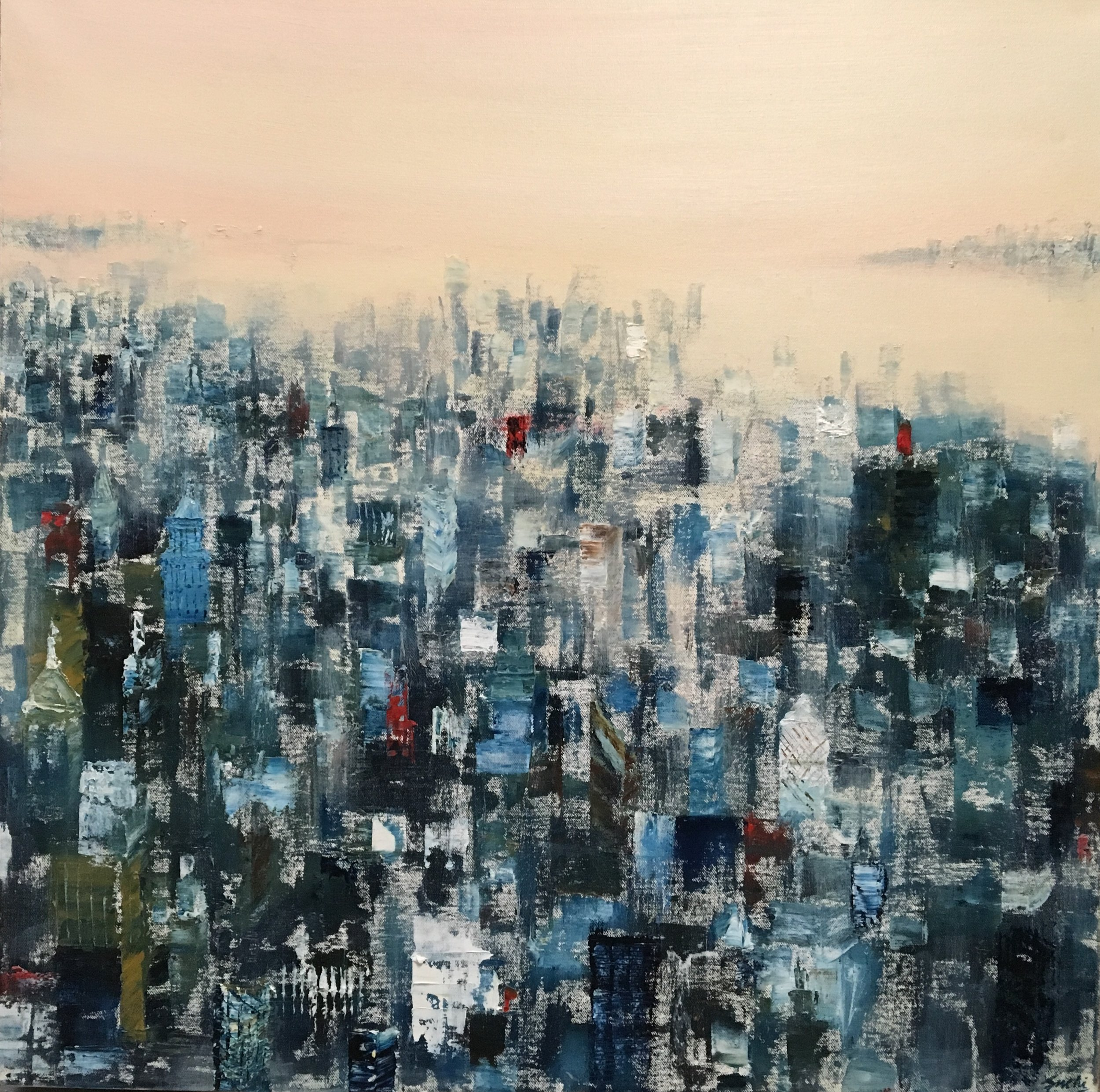 "Manhattan, Oil, 30"" * 30"""