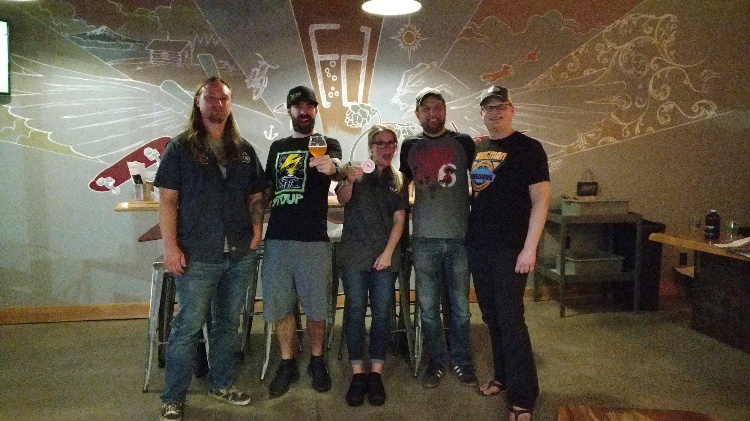 Trap Door & Wingman Brewers in da house!