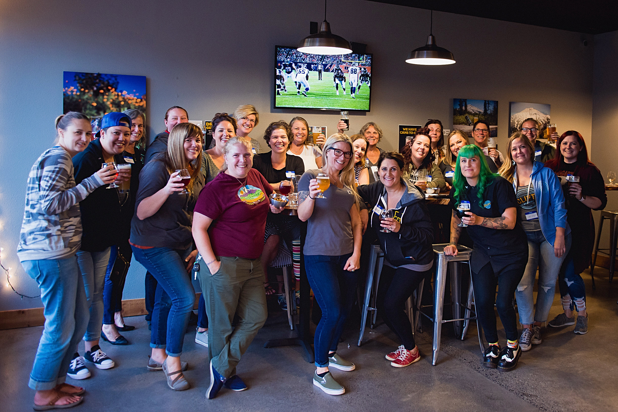 Back room is great for groups! This is our Couve Brew Bevy gathering that meets up monthly!