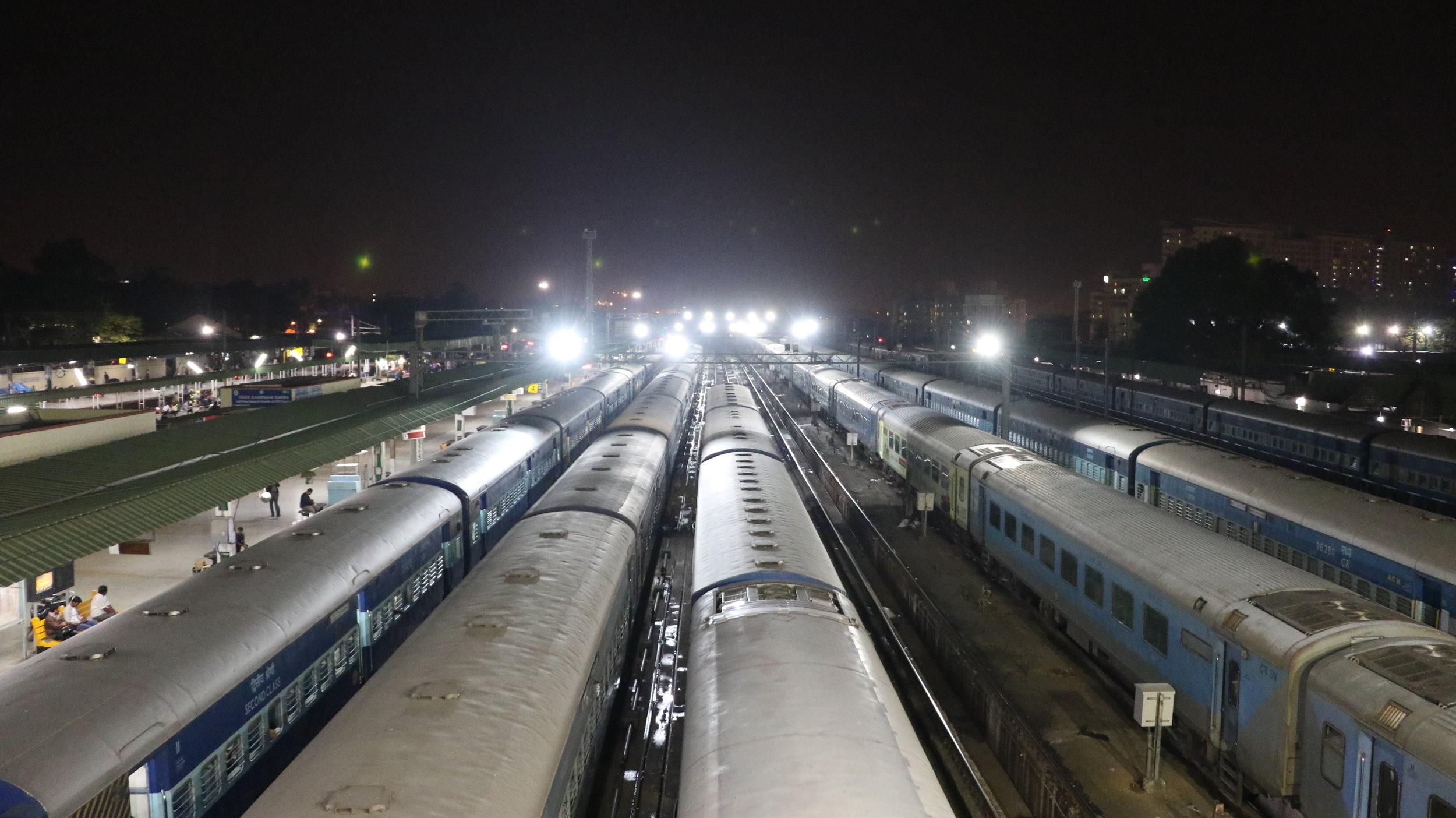 Bengaluru City Train Station at night.jpg