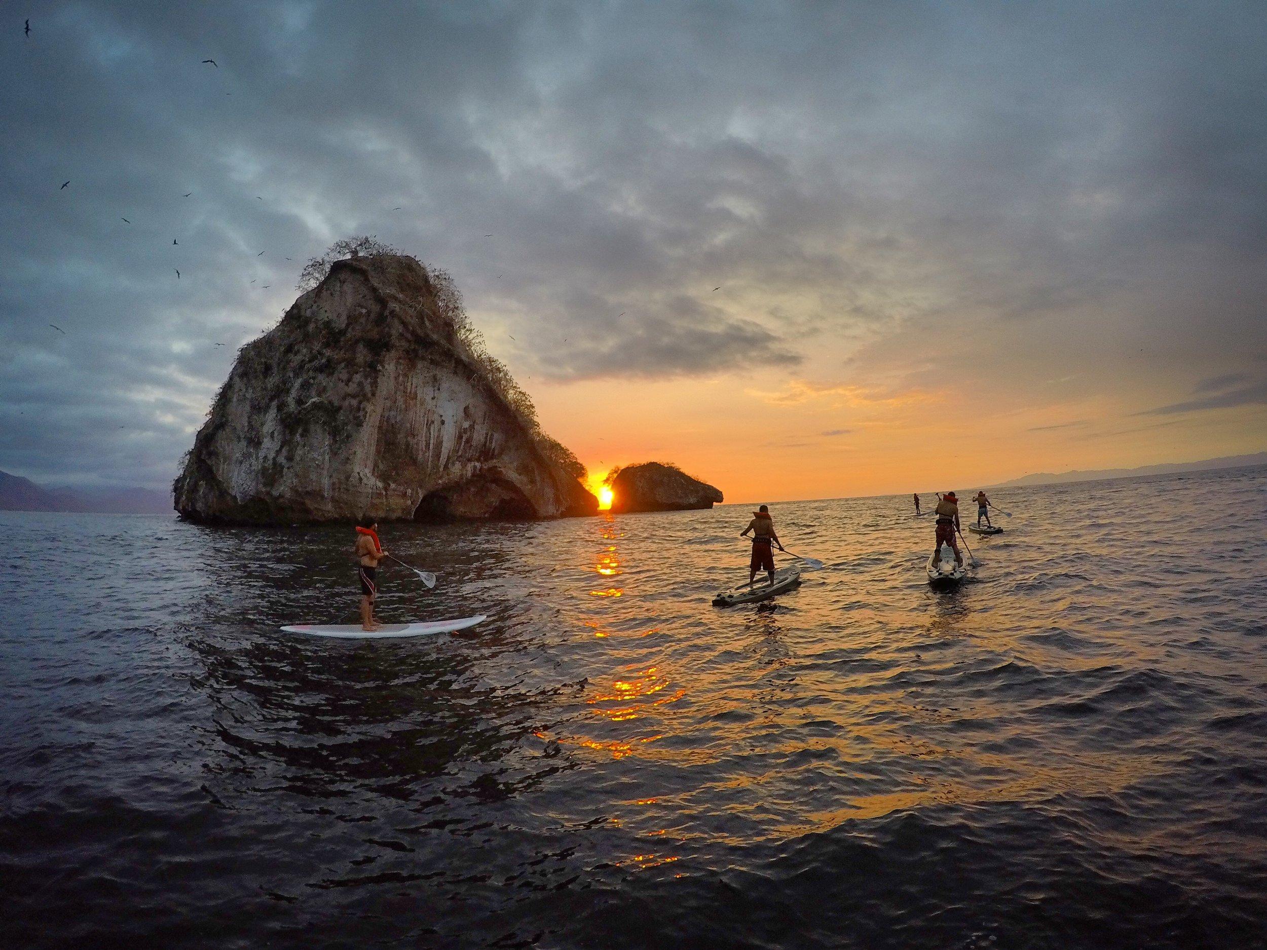 Sunset Session Los Arcos Puerto Vallarta Paddle Boarding