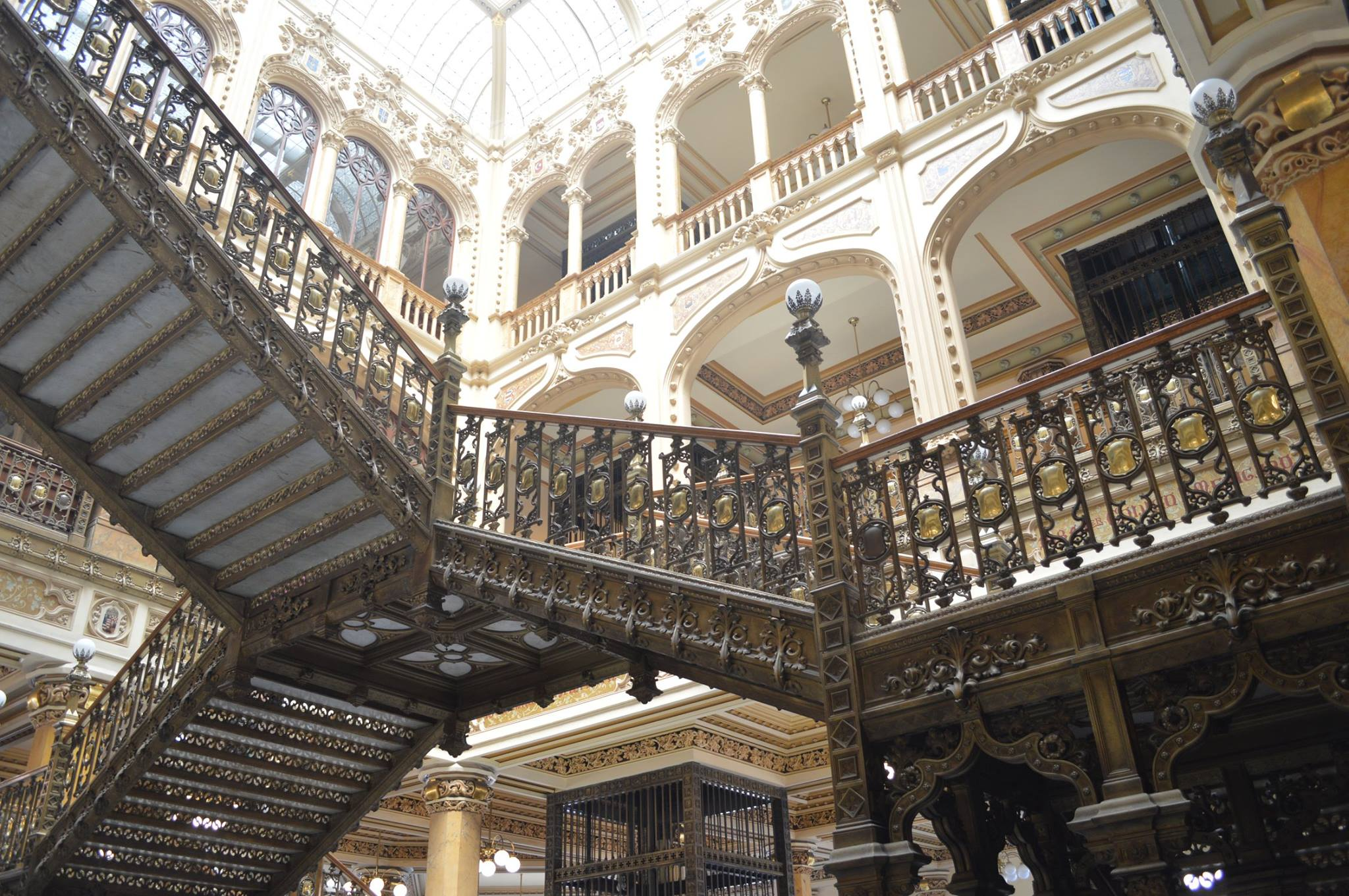 Inside Mexico City's stunner of a post office, one of Paco's favorite stops on any walk through the Centro Histórico.