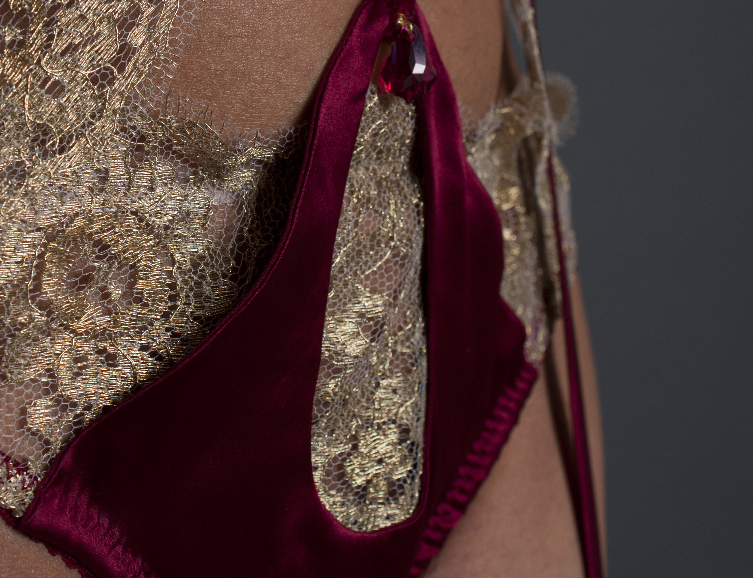 Silk, New York - Our silk has come all the way from the Garment District of Manhattan, New York City. At 94% silk, this is the purest quality used for contour lingerie.