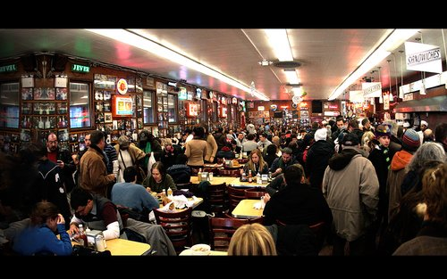 Katz's deli is always hopping from counter end to counter end