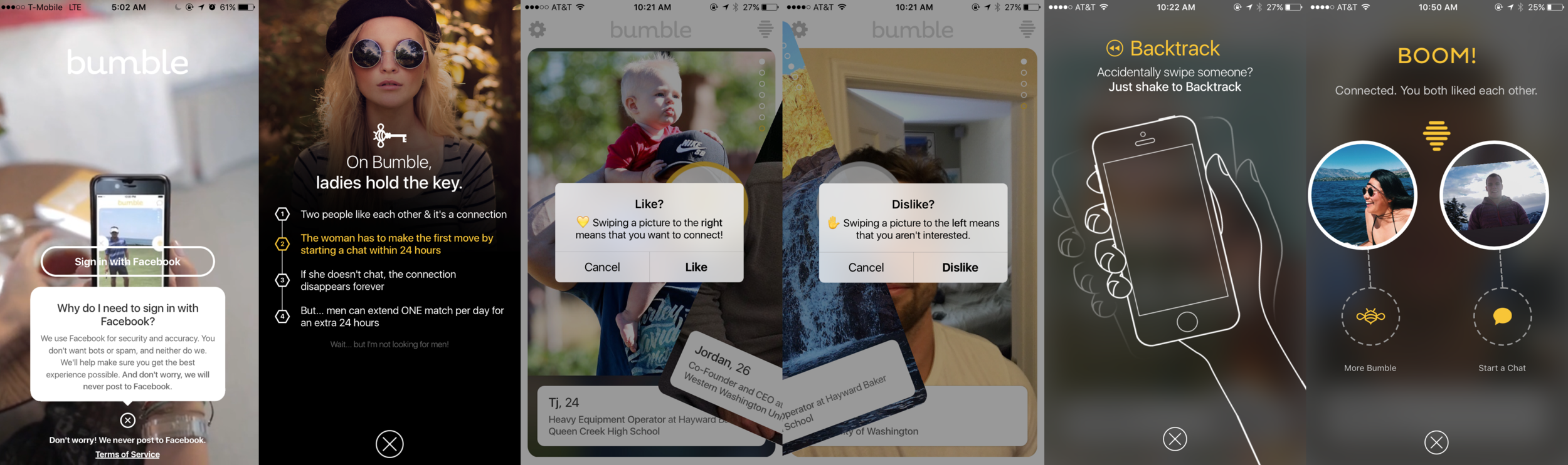 Bumble onboarding process