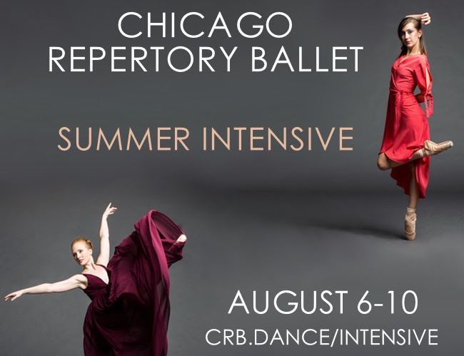 CRB'S Summer Intensive is just ONE MONTH AWAY!   A perfect offering for the young artist (13 and up). Once a year, CRB offers an opportunity for young advanced dancers to work with the artists of the company. This year, the intensive will be in the heart of downtown Chicago at  218 S. Wabash . Dancers will have the opportunity to work on their technique and artistry with the company members at CRB. JOIN US!