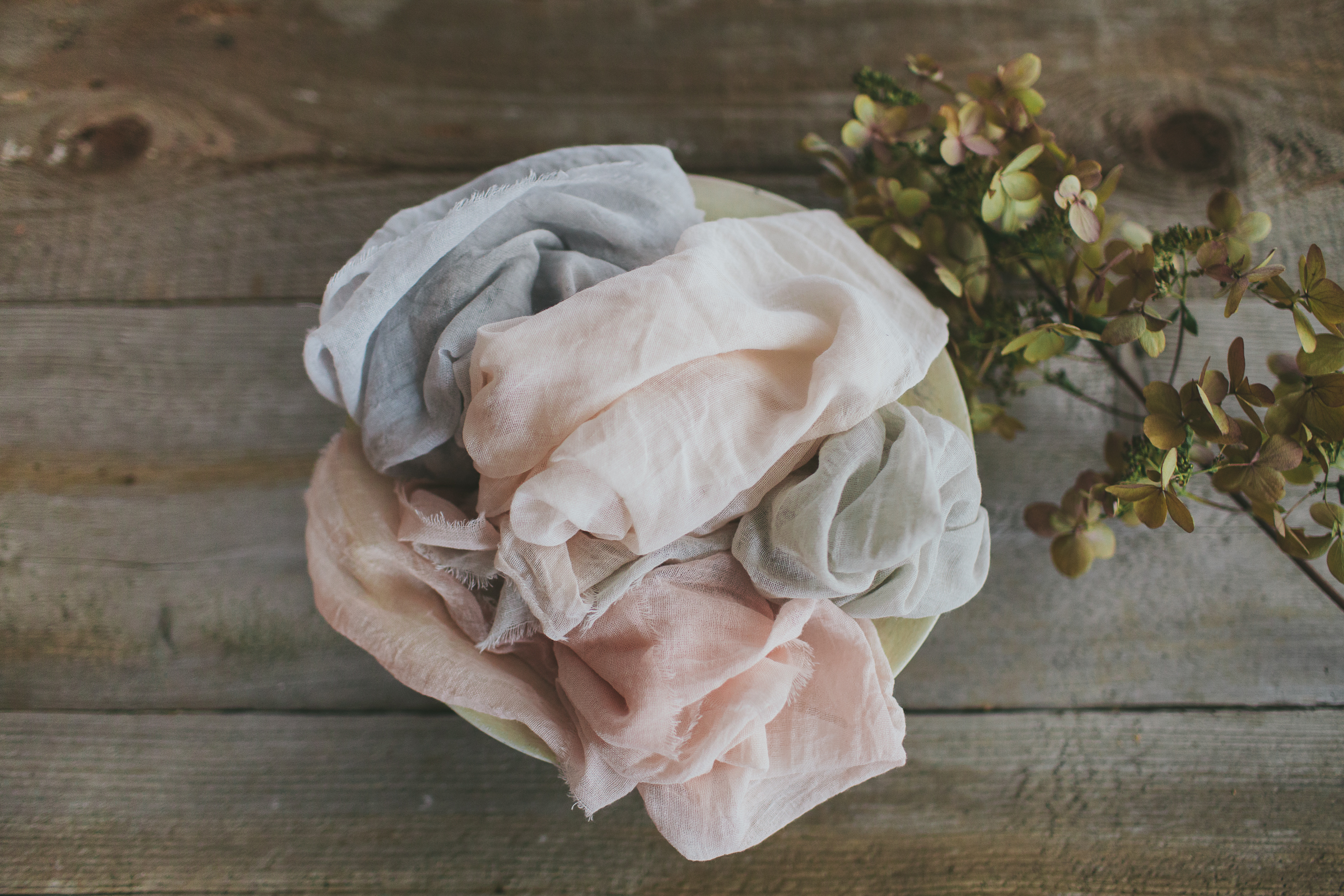 Table Linens - Our table linens are also handmade and hand dyed.Cotton dinner napkins and silk chiffon table runners, hand-dyed with all natural colours and non-toxic processes, they are the perfect artisanal touch to a wedding table, styled shoot or special celebration.