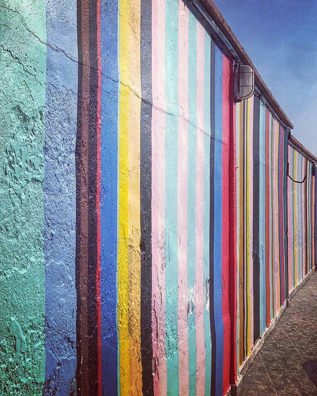 #Palenqueras #Rituals #freedom #islandlife #cartagena #barranquillacolombia #mural #colombia #reflection #stripes #streetart #graffitiart
