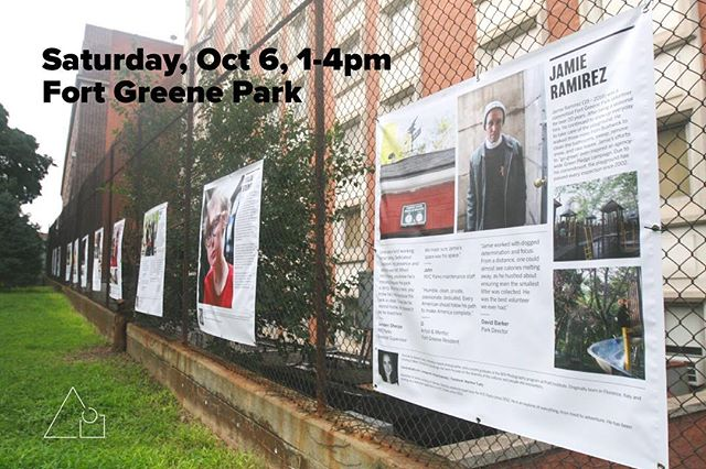 This Saturday (10/6), 1-4pm, join @communityheroes.nyc in Fort Greene Park (by the Revolutionary Garden at Willoughby and St. Edwards) for a picnic to celebrate the opening of a community-based public art project celebrating the everyday heroes of our neighborhood! #thinkftgreene