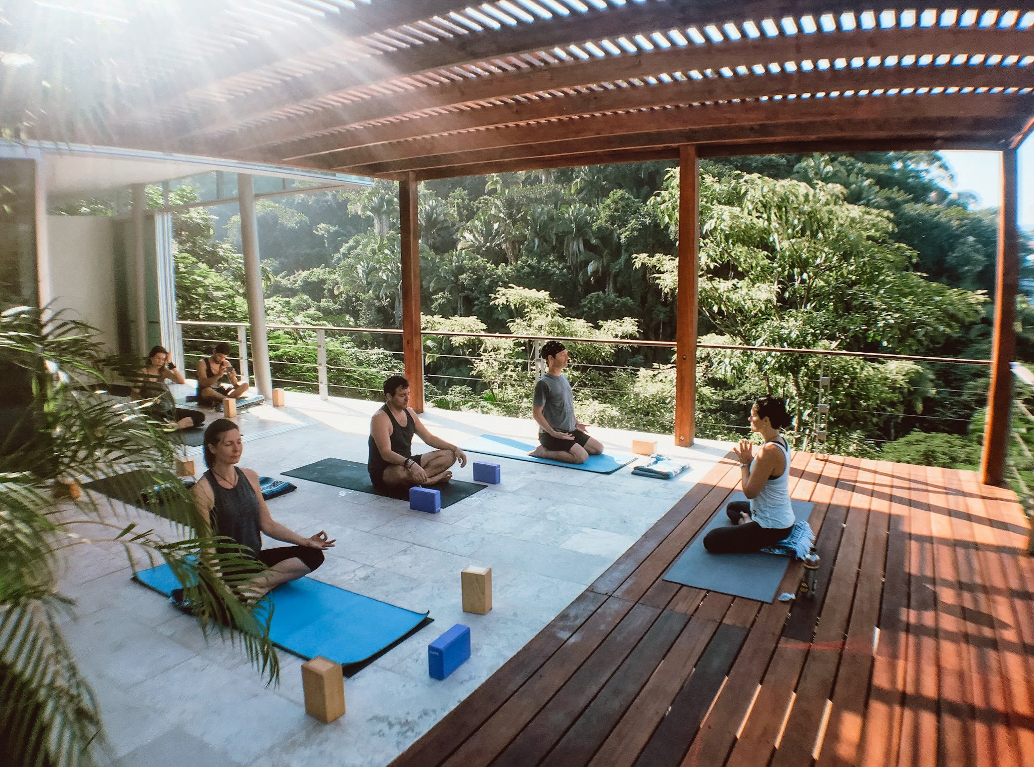 yoga al fresco - ocean and jungle views